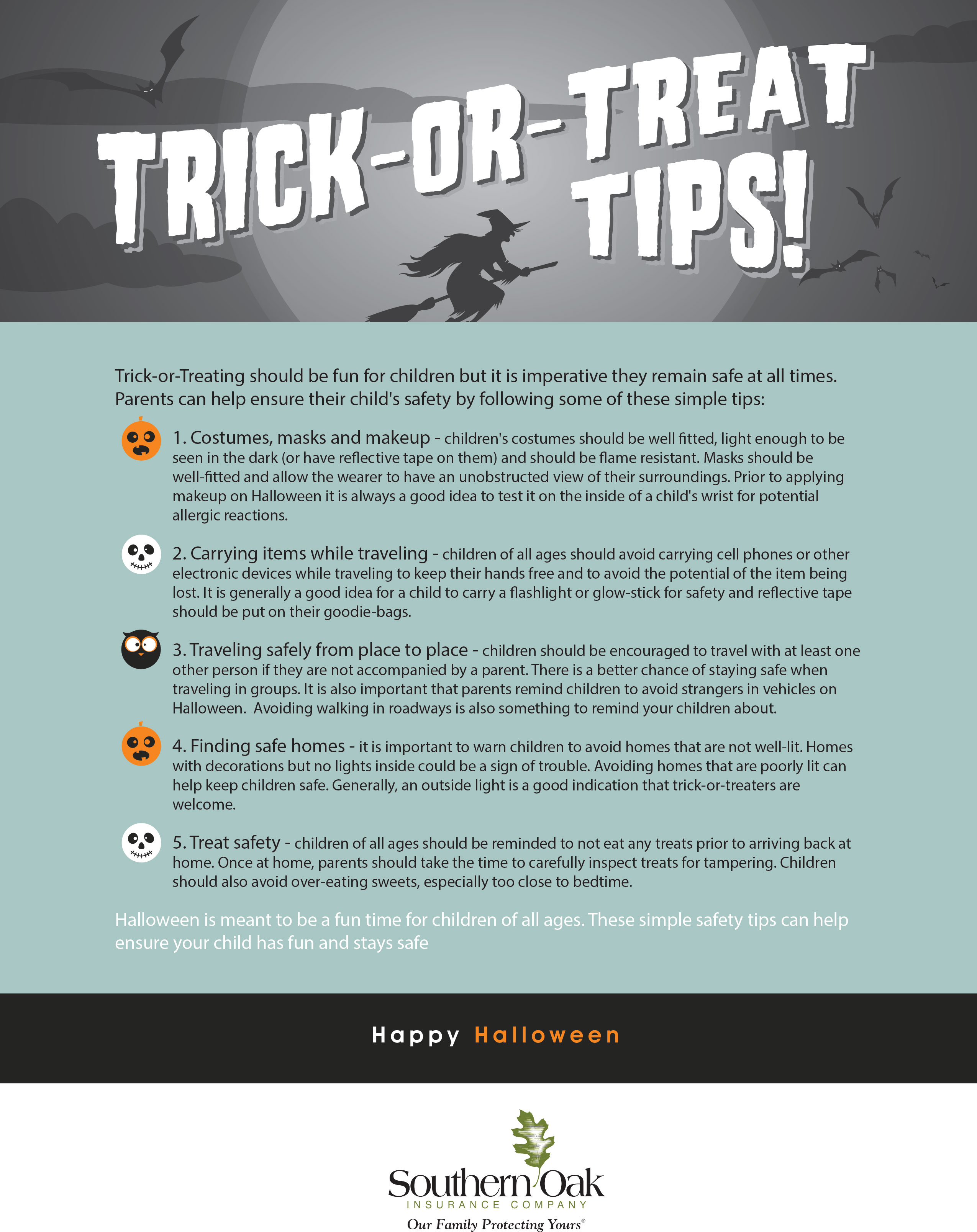 Trick or Treating Safety - Southern Oak Insurance