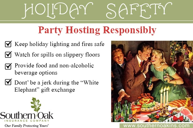 holiday safety party hosting